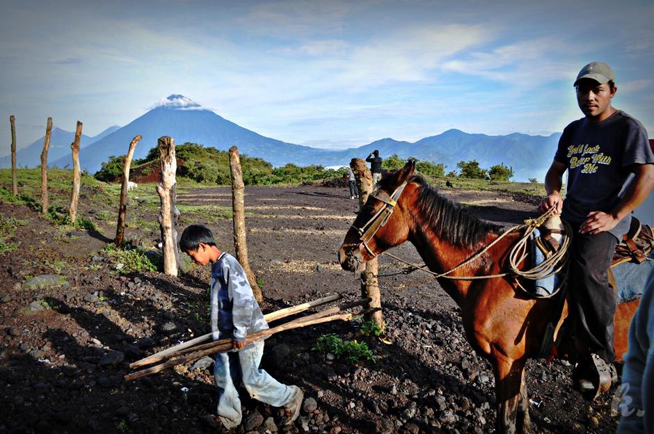 Krajobraz Gwatemali - foto