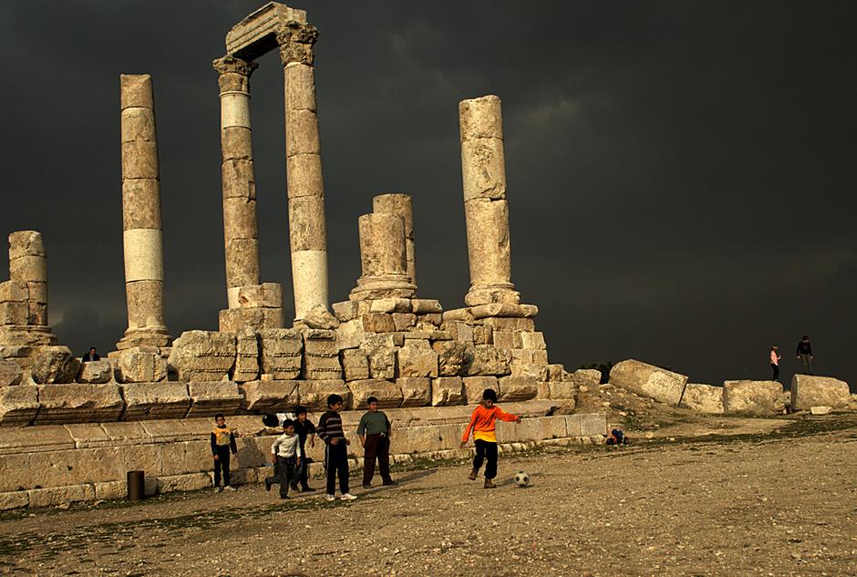 Zabytki w Ammanie - stolicy Jordanii