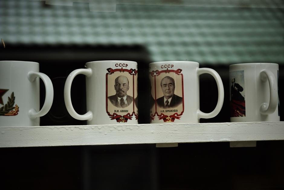 Lenin i Breżniew, kubki na kawę