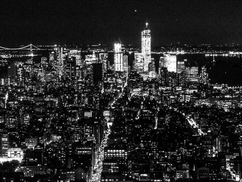 Nowy Jork w nocy - foto