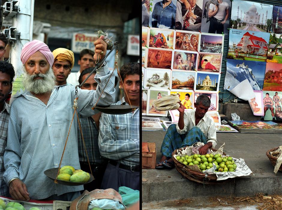 Sprzedawcy owoców w Indiach