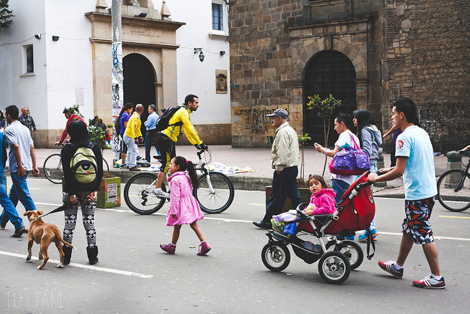 Główna ulica Bogoty