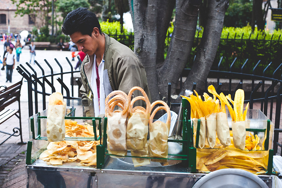Sprzedawca churros, Bogota