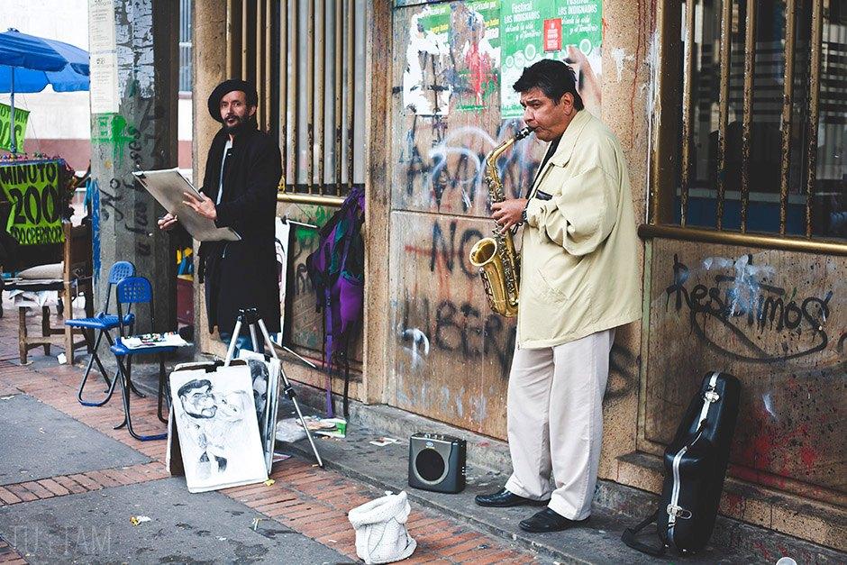 Grajowie uliczni, Bogota