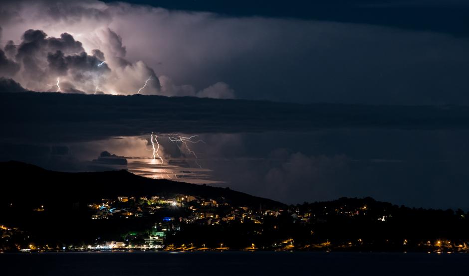 Wieczór nad zatoka Kupari w Chorwcji - zdjęcia z podróży
