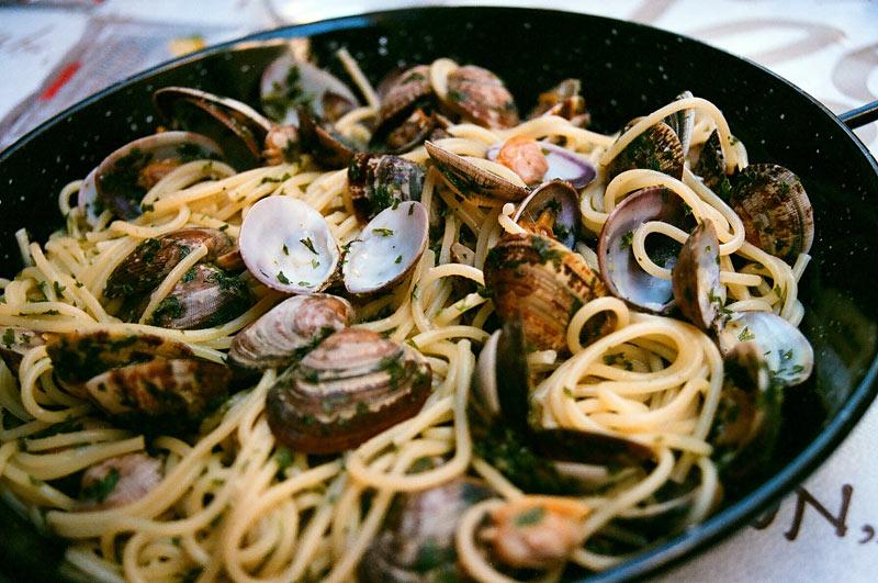 Włoskie jedzenie - ostrygi
