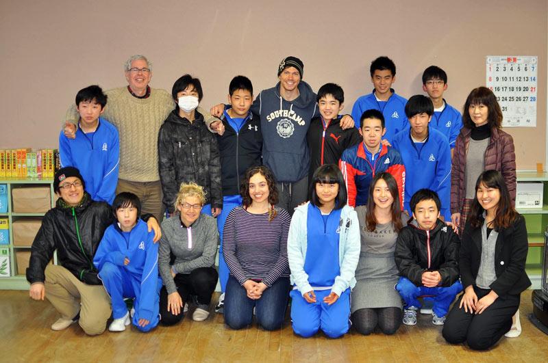 Dzieci ze szkoły z Onagawy w Japonii