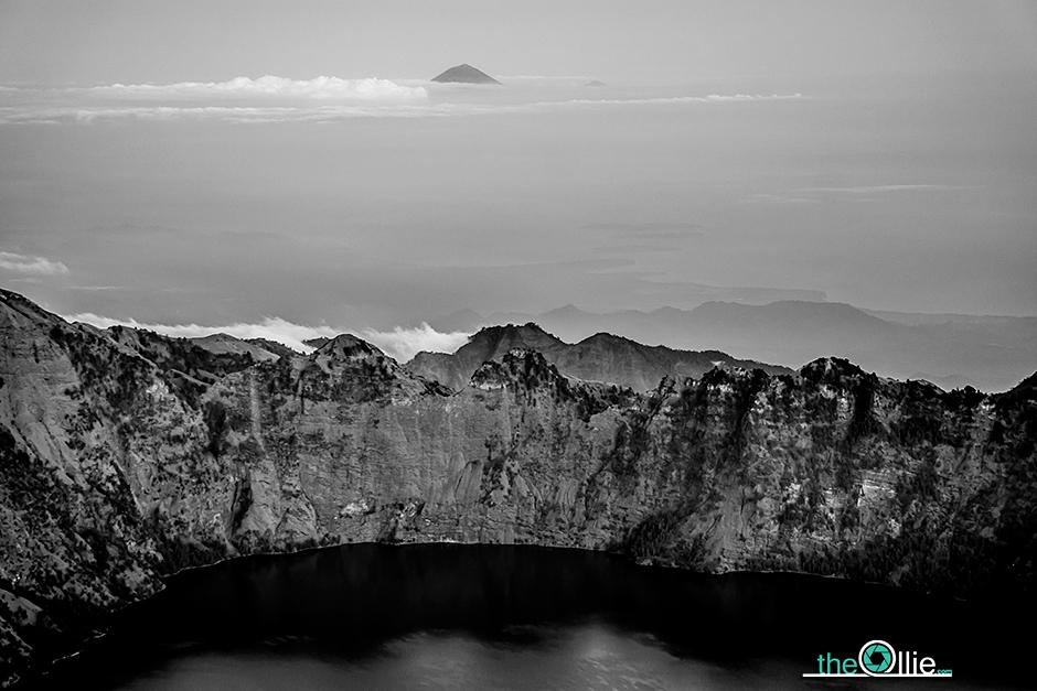 Kaldera wulkanu w Indonezji