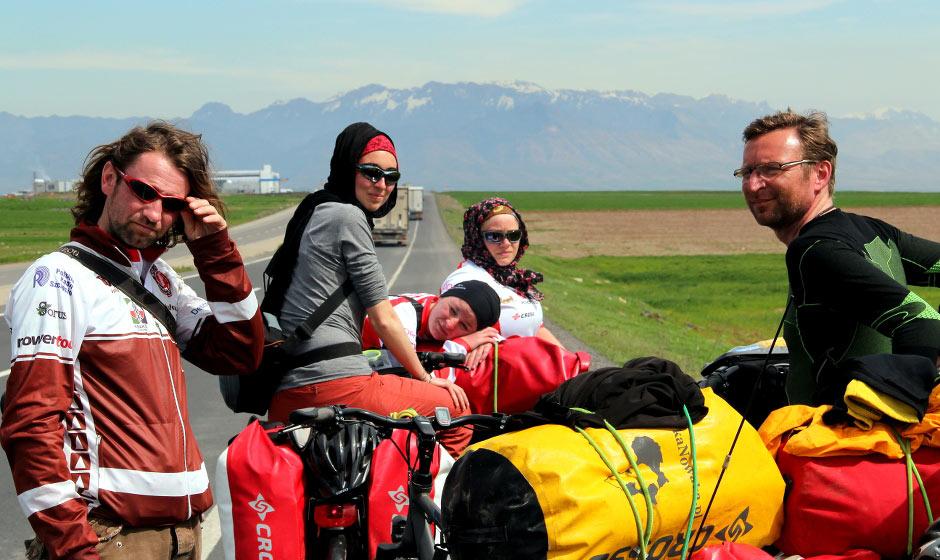 Uczestnicy wyprawy rowerowej w Turcji