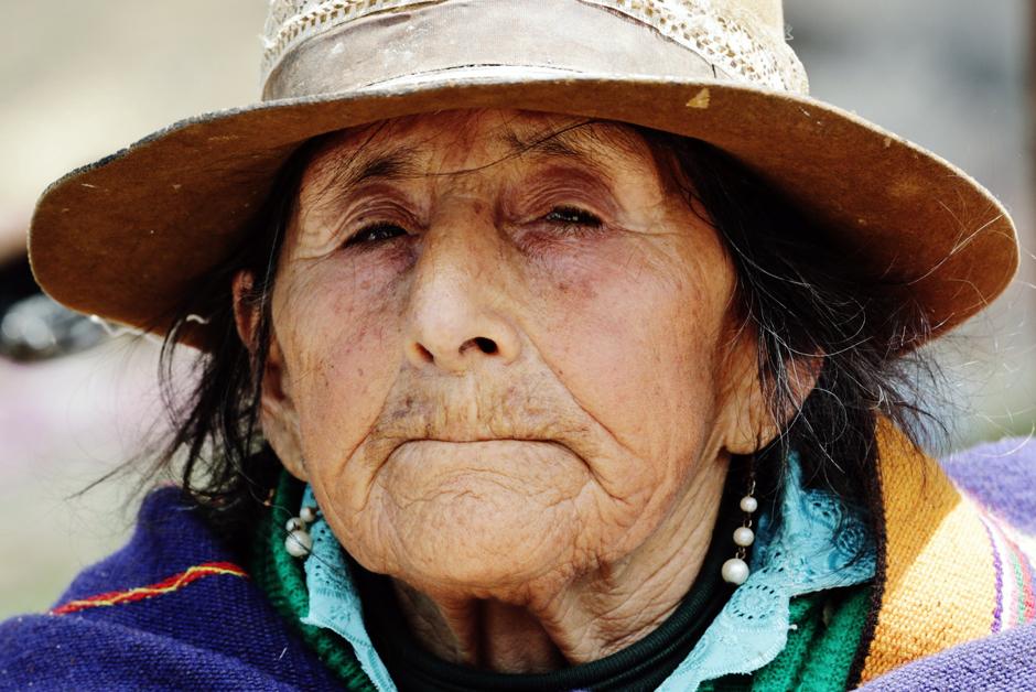Stara kobieta w Peru