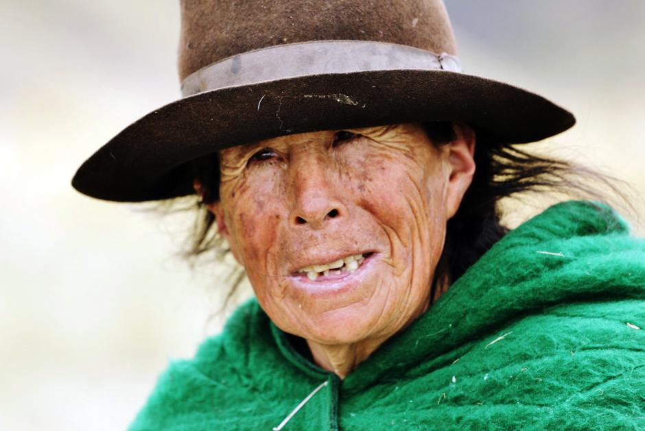Starsza kobieta z Peru