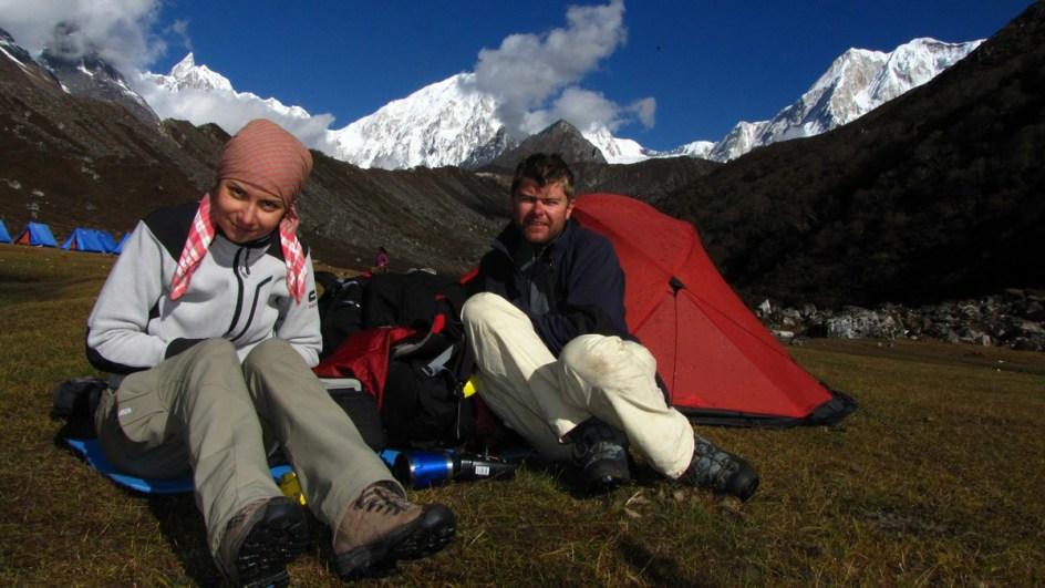 Bartek Malinowski i Asia Lipowczan w Himalajach