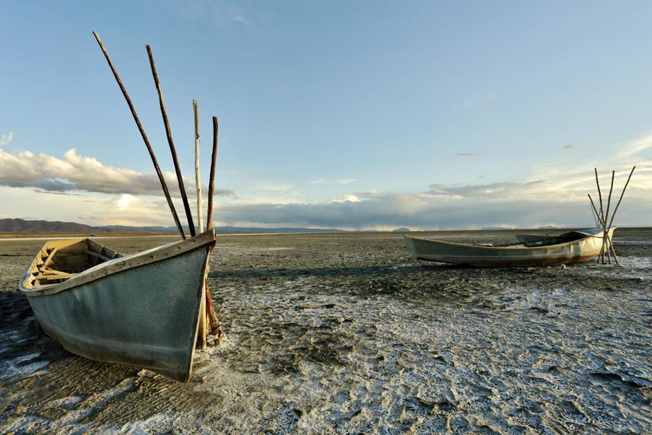 Jezioro Poopo w Boliwii
