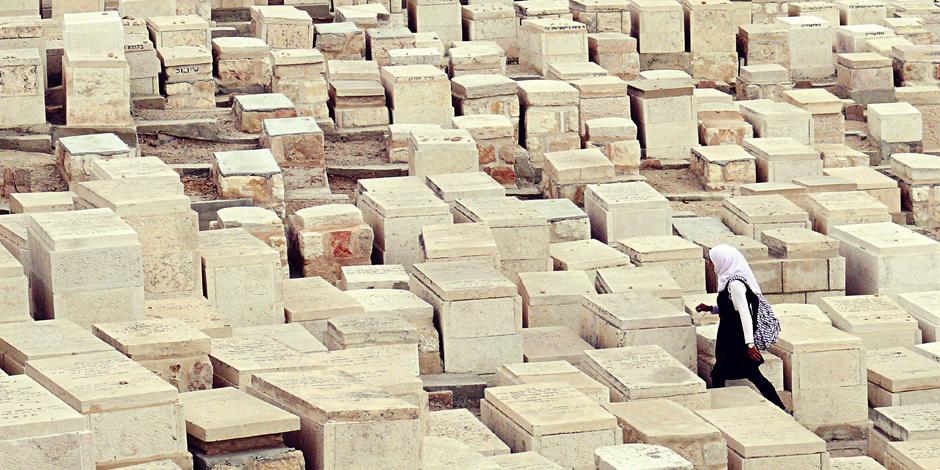 Żydowski cmentarz w Jerozolimie - zdjęcia