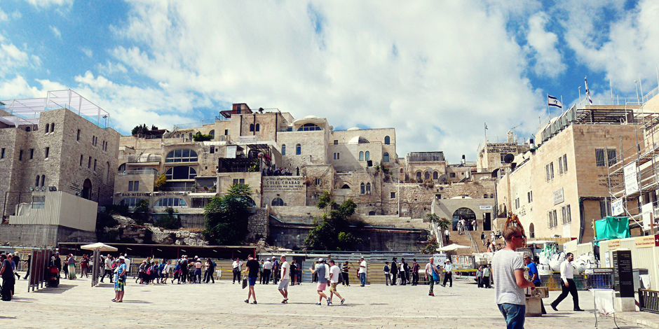 Przed Ścianą Płaczu w Jerozolimie - foto