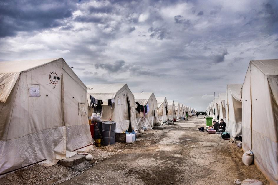 Iracki Kurdystan - obóz uchodźców