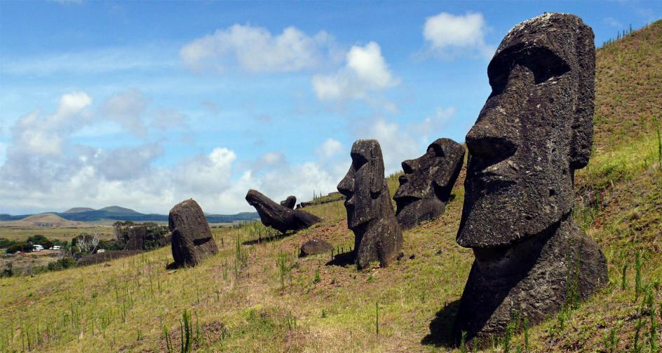 Posągi moai na Rapa Nui - zdjęcia z podróży
