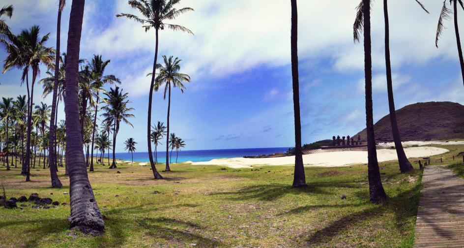 Plaża w parku narodowym na Rapa Nui
