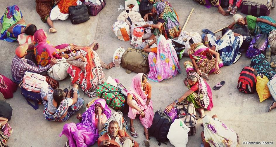 Indie, Delhi, dworzec kolejowy. Zdjęcia z podróży do Indii
