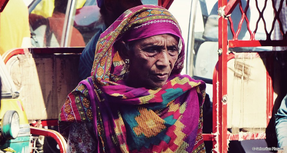 Indie, kobieta ze Starego Delhi. Foto - Sebastian Placzek