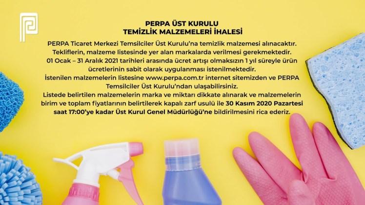 PERPA Üst Kurulu Temizlik Malzemesi İhalesi