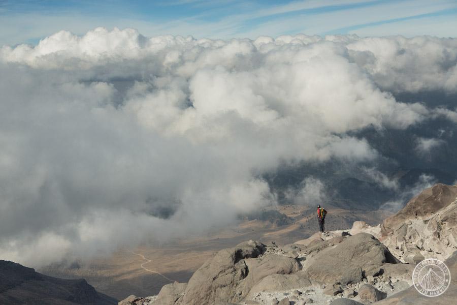 Tumolo admires the view from the flanks of Pico de Orizaba
