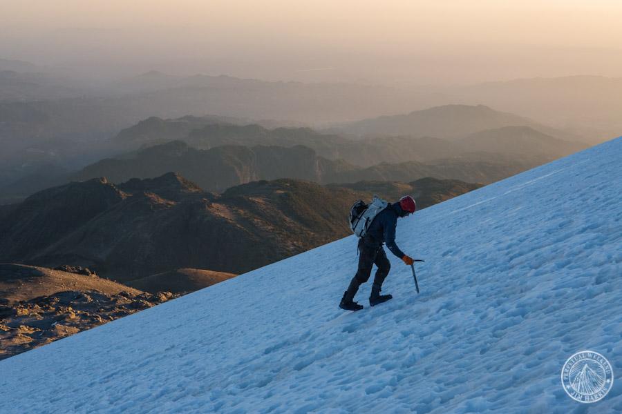 Mehl climbing Orizaba glacier