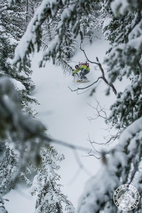 Neil Provo riding above Holden Village, Cascades, Washington
