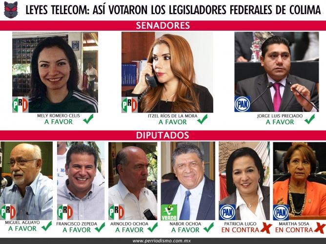 legisladores colima telecom