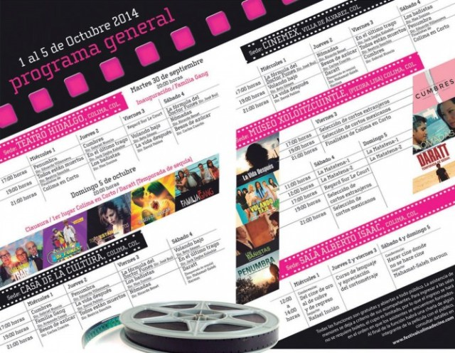 programacion festival de cine 2014