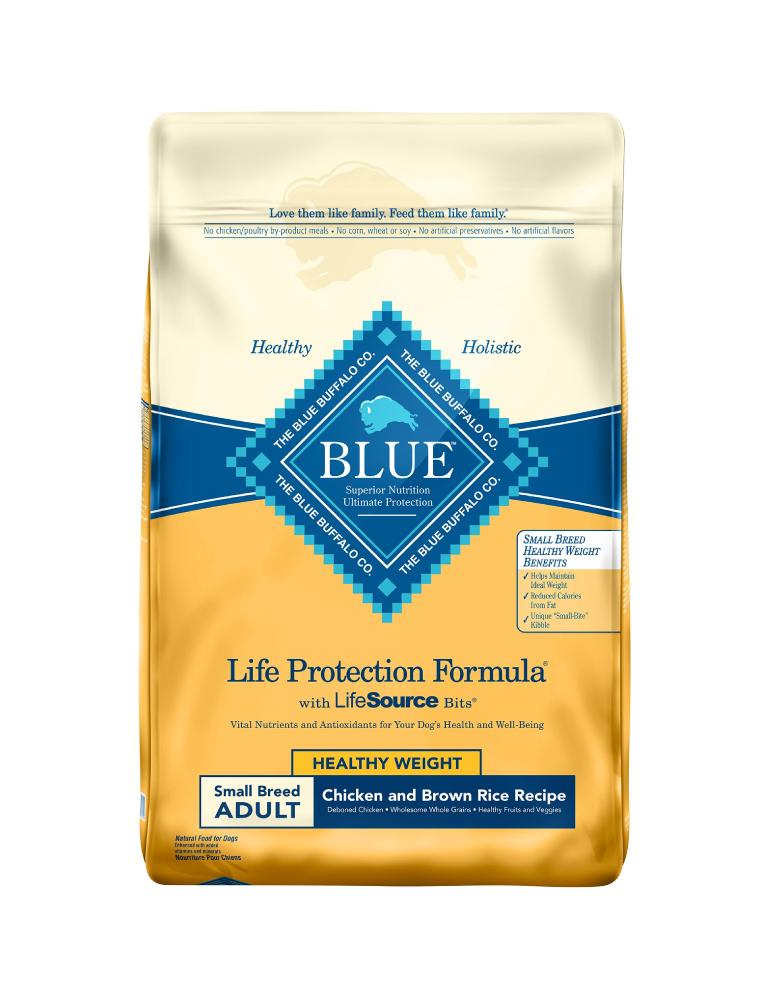 Blue Buffalo Adulto Razas Pequeñas Peso Saludable Receta de Pollo y Arroz