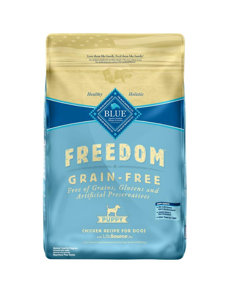 Blue Buffalo Freedom Cachorro Receta de Pollo Sin Granos