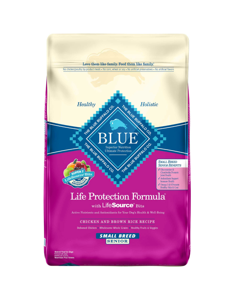 Blue Buffalo Senior Razas Pequeñas Receta de Pollo y Arroz