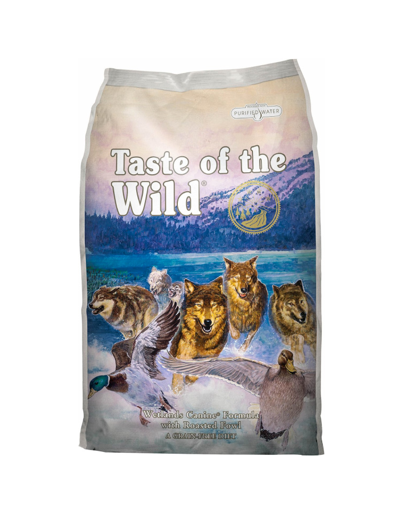 Taste of the Wild Wetlands Canine de Pato Asado para Adulto