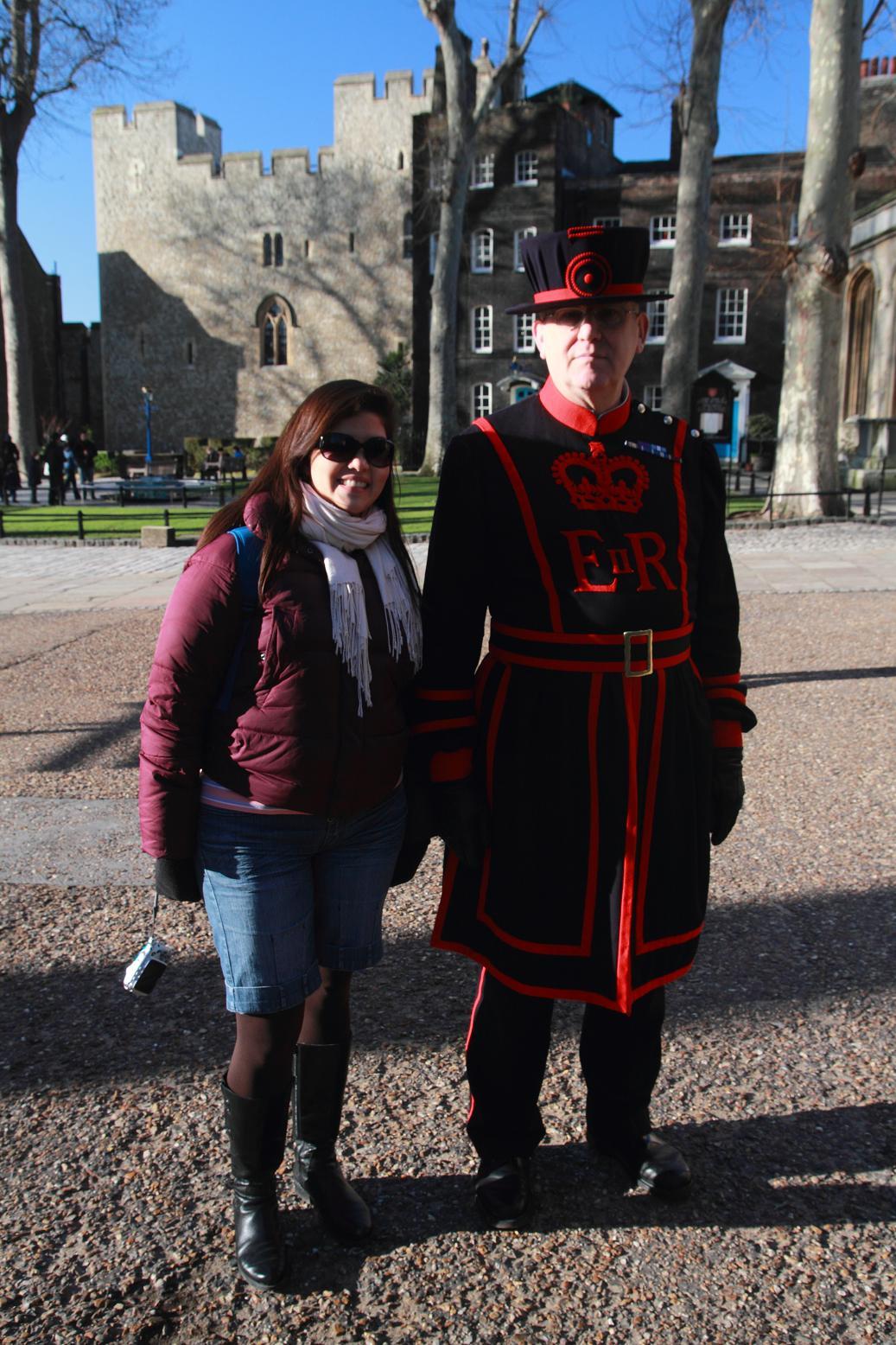 Yeoman Warder o Beefeater en la Torre de Londres