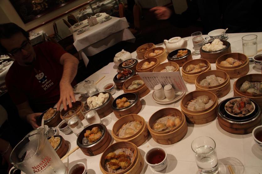 Dim Sum en New World, en el barrio chino de Londres.