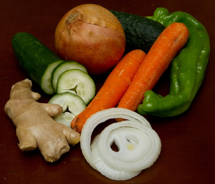 Vegetales empleados para preparar salsa agridulce