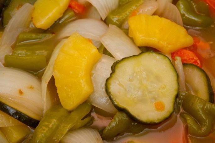 Salsa agridulce con vegetales