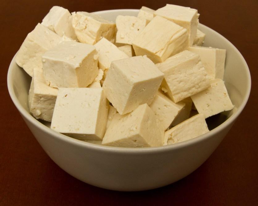 Tofu en dados