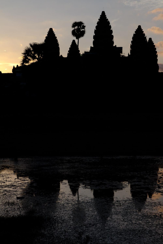 Amanecer en el templo de Angkor Wat, Siem Riep, Camboya