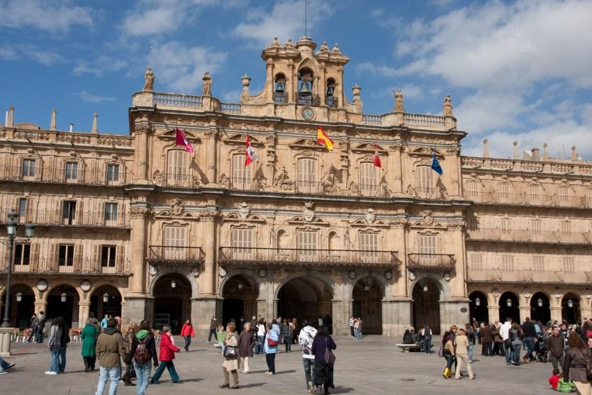 La Plaza Mayor de Salamanca, España