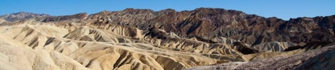 El punto de Zabriskie, en el Valle de la Muerte, California, EE.UU.