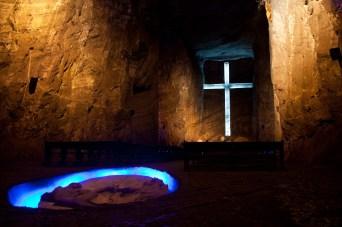 Altar mayor de la Catedral de Sal de Zipaquirá, Colombia