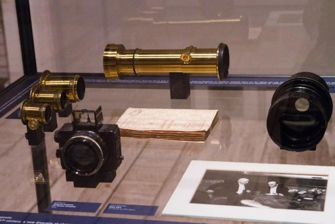 Objetivos de principios del siglo XX en el museo Nicéphore Nièpce, en Chalon-sur-Saône, Francia