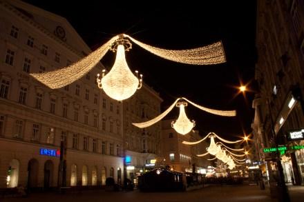 Iluminación de Navidad, Viena, Austria