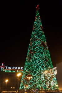 Árbol de Navidad en la Puerta del Sol, Madrid, España