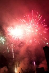 Fuegos artificiales, fête des lumières 2011 de Lyon, Francia