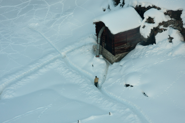 Vista área desde el teleférico de Zermatt, Suiza