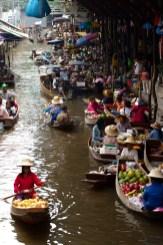 Mercado flotante de Damnoen Saduak, Tailandia
