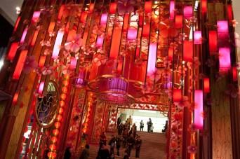 El centro comercial Ocean Terminal durante el año nuevo chino, Hong Kong